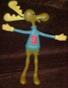 Bullwinkle Moose bendy toy, Jasco 1985