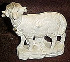 Antique bisque sheep figurine