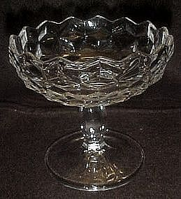 Fostoria American footed jelly server, regular