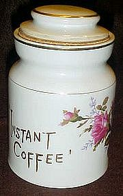 Moss rose instant coffee jar / cannister