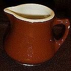 Hall USA china, small brown restaurant creamer