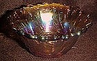 Indiana Pebble leaf candle holder, marigold carnival