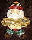 Lumberjack Santa cookie Jar by Sakura, Debbie Mumm
