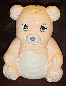 Calico bear  ceramic cookie jar