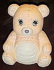 Calico bear  ceramic cookie jar