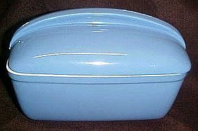 Hall delphinium blue rectangle  refrigerator dish & lid