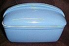 Hall delphinium blue rectangle  refrigerator dish & lid