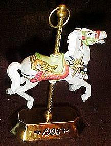 Hallmark 1995 carousel horse ornament by Tobin Fraley