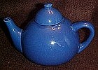 Small cobalt china teapot, personal size, Hall?