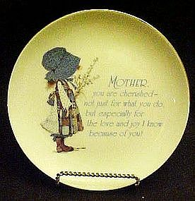 Holly Hobbie lasting memories, Mother poem  plate