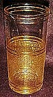 Set of 8 vintage drinking glasses with gold