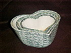 Green sponged heart shape mixing bowl set