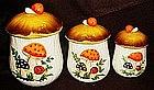Sears Merry Mushroom's four piece cannister set