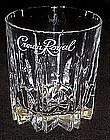 Crown Royal logo crystal rocks whiskey  glasses