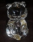 Crystal teddy bear figurine, paperweight