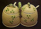 Norcrest beehive honey and jam pot, Faux beleek