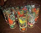 Brockway Pepsi 12 days of Christmas glass, 9th day