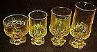"Cornsilk yellow, Madeira  6 5/8"" tall ice tea glasses"