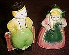 McMaster pottery dutch boy and girl planters, scarce
