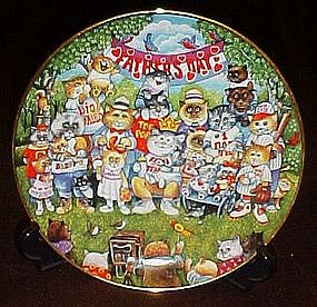 Bill Bell Purrfect Pops, collector plate, box & cert