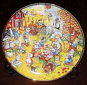 Bill Bell, A Purrfect feast, collector plate, box & coa