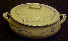 WS George covered round vegetable bowl,  laurel garland