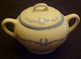 WS George, derwood blue laurel garland, sugar bowl