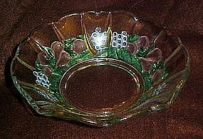 Lovely Della Robbia  crystal bowl, flashed fruit