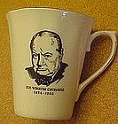 Sir Winston Churchill commemorative mug, bone china