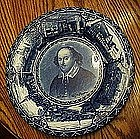 Rowland & Marsellus Flow blue Shakespeare plate