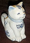 Kitty cat creamer with blue delft decoration