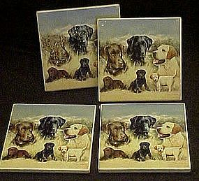 Set of 4 labrador dog coasters