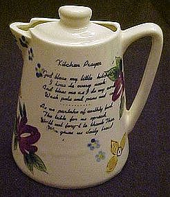 Kitchen prayer coffee pot wall pocket