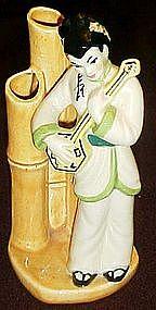 Rare Lu-Tang bud vase in white, Ceramic Arts Studio