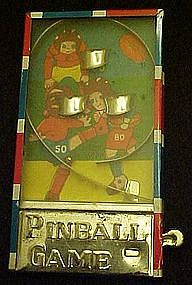 Vintage tin litho mini  pinball machine, football
