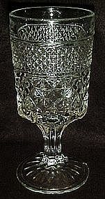 "Anchor Hocking Wexford tall 6 5/8"" goblet"