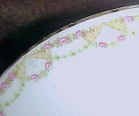 M&Z Austria Altrohlau oval platter,  roses and swags