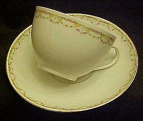 M&Z Austria Altrohlau cup and saucer, tiny pink roses