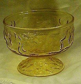 Anchor Hocking Milano Lido sherbert dish honey gold