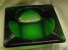 Anchor Hocking large forest green ashtray