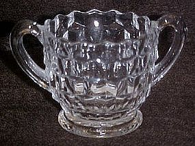 Fostoria american, demitasse individual sugar bowl