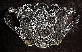 The States pattern open sugar bowl by US Glass, 1905