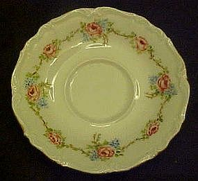 Edelstein Bavaria replacement saucer, pink roses