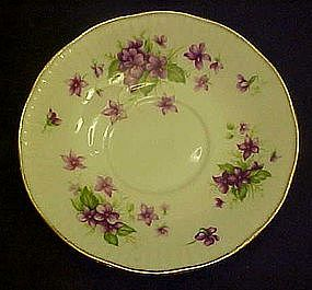 Royal Minster violets, bone china replacement saucer