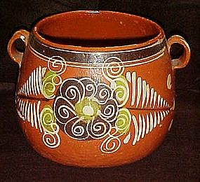 Large hand painted  Mexican pottery pot