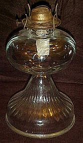 Vintage  glass kerosene oil lamp