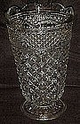 """Tall 10"""" Anchor Hocking  Wexford footed vase"""