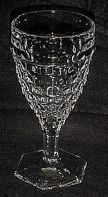 Tall Fostoria American hex foot goblet  6 7/8""