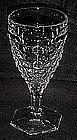 "Tall Fostoria American hex foot goblet  6 7/8"""