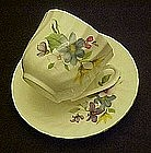 Bone china cup and saucer, wildflowers, Baum Brothers